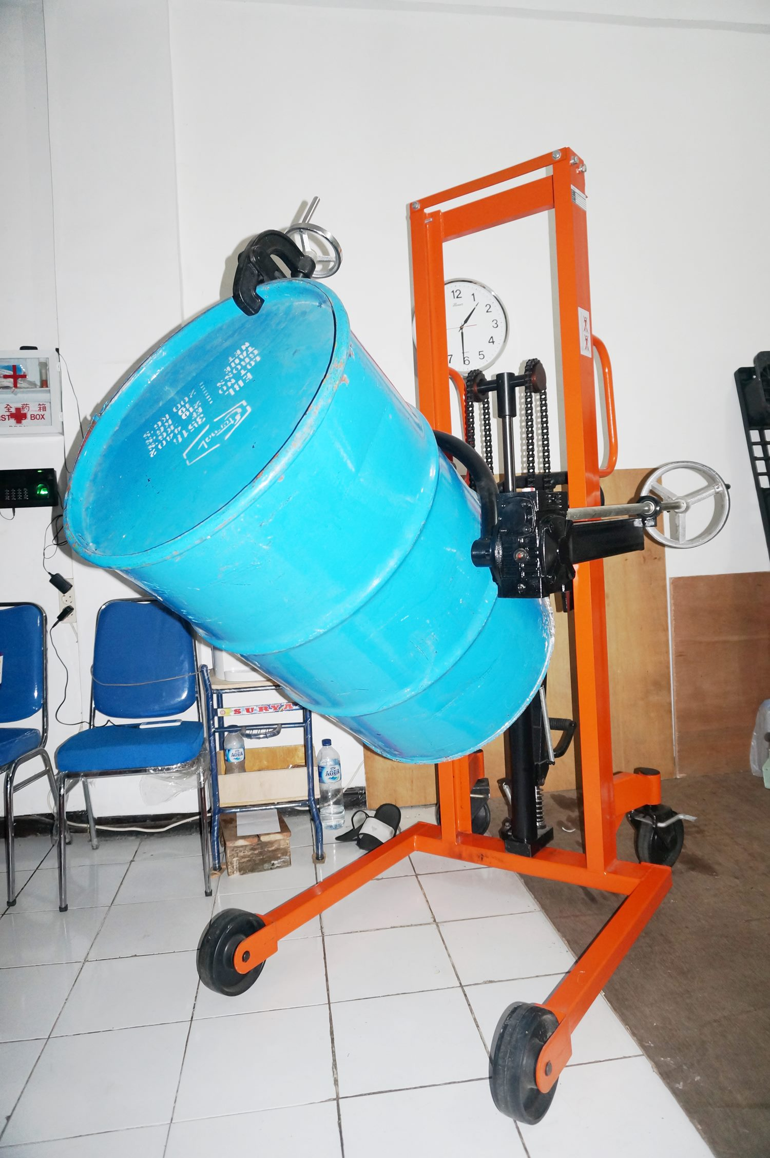 service drum handler stacker