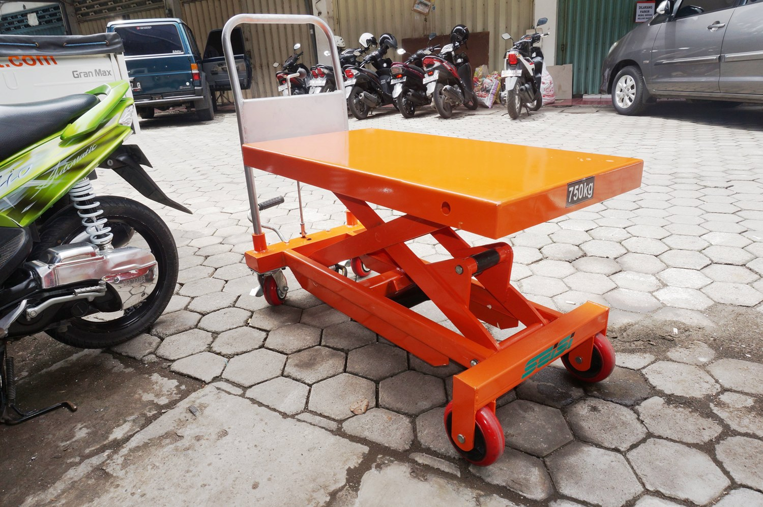 lift table manual scissor service hand pallet